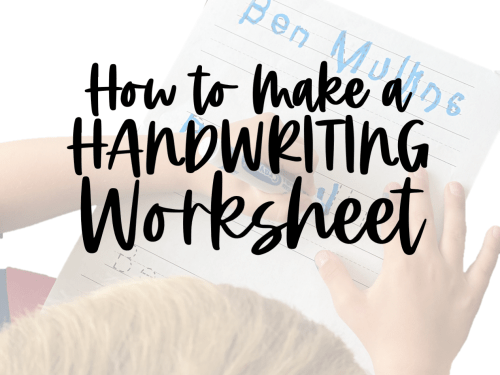 small resolution of How to Make a Handwriting Worksheet - Babbling Abby