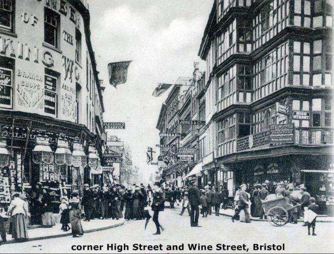 Corner High Street and Wine Street, Bristol