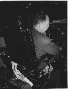 Charles Harding Babb in Pilots Seat