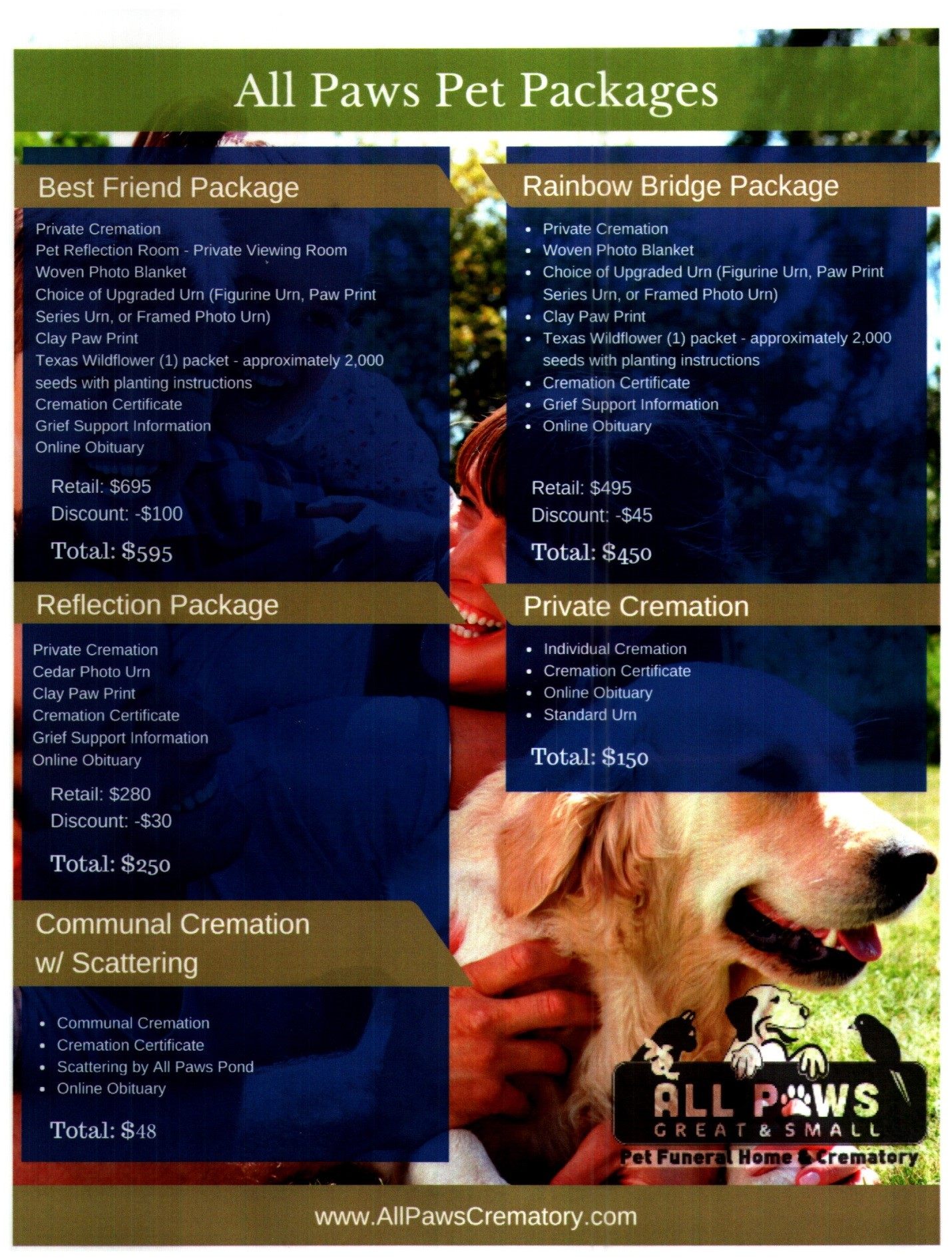 hight resolution of  the best friends package includes a service that can only be provided at the all paws facility