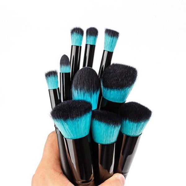 10 Professional Make Up Brushes blue