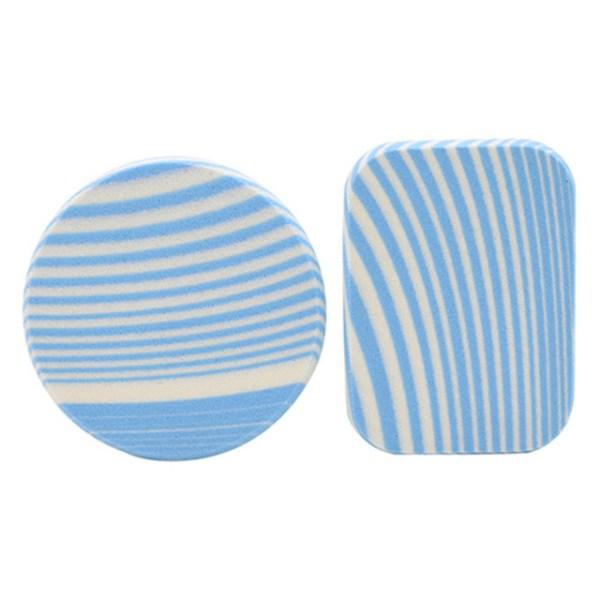 zebra striped makeup sponge blue 2