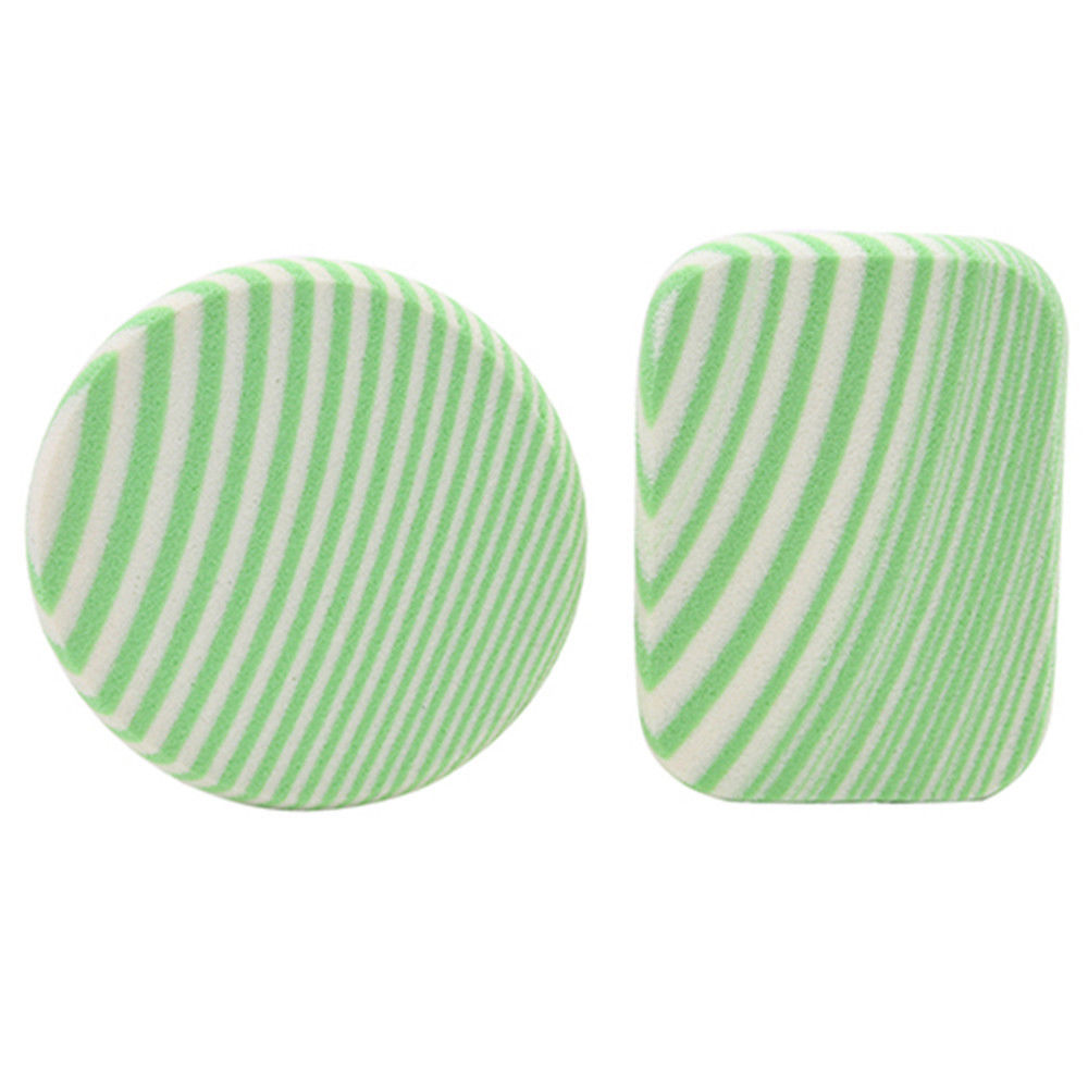 zebra striped makeup sponge green
