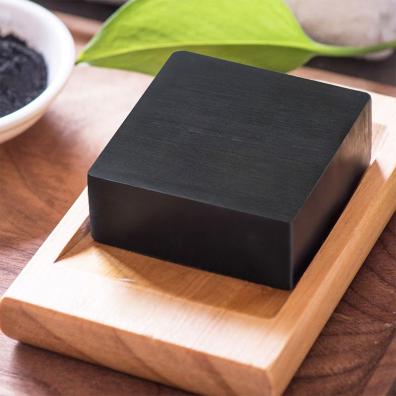100g Handmade Bamboo Charcoal Soap Deep Face Cleansing Skin Whitening Blackhead Remover Oil Control Acne Treatment