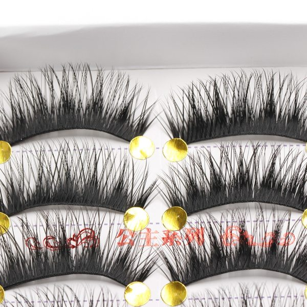 5 Pair Natural Long Black Eye Lashes Handmade Thick Fake False Eyelashes HOT 3