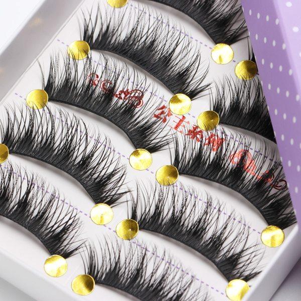 5 Pair Natural Long Black Eye Lashes Handmade Thick Fake False Eyelashes HOT