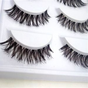 5 Pairs Natural Fashion Eyelashes Eye Makeup Handmade Cross Long False Lashes 2