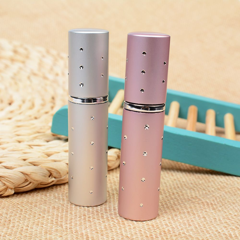 5ML Hot Sale Aluminum Refillable Perfume Bottle Mini Portable For Travel With Spray Empty Cosmetic Containers 1