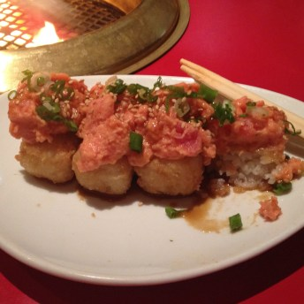 Spicy Tuna Volcanos at Gyu Kaku