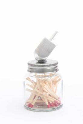 Dreidel Matchstrike Jar DIY