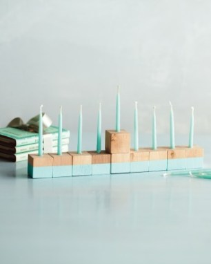 Bead Blocks Menorah DIY