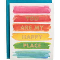 Rainbow Happy Place Foil A2 Card