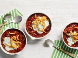 Chili with Ranch Sour Cream