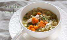 Chicken Soup with Heart-Shaped Carrots