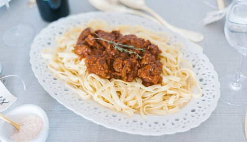Red Wine & Sausage Bolognese