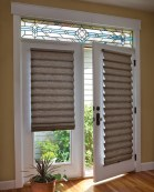 french window treatments living room beach with bamboo in blinds for french door