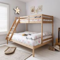 triple sleeper bed bunk bed in natural double single with Kids Bunk Beds