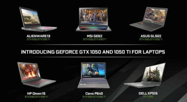 The Notebook GeForce GTX 1050 Ti and GTX 1050 GPUs are now available