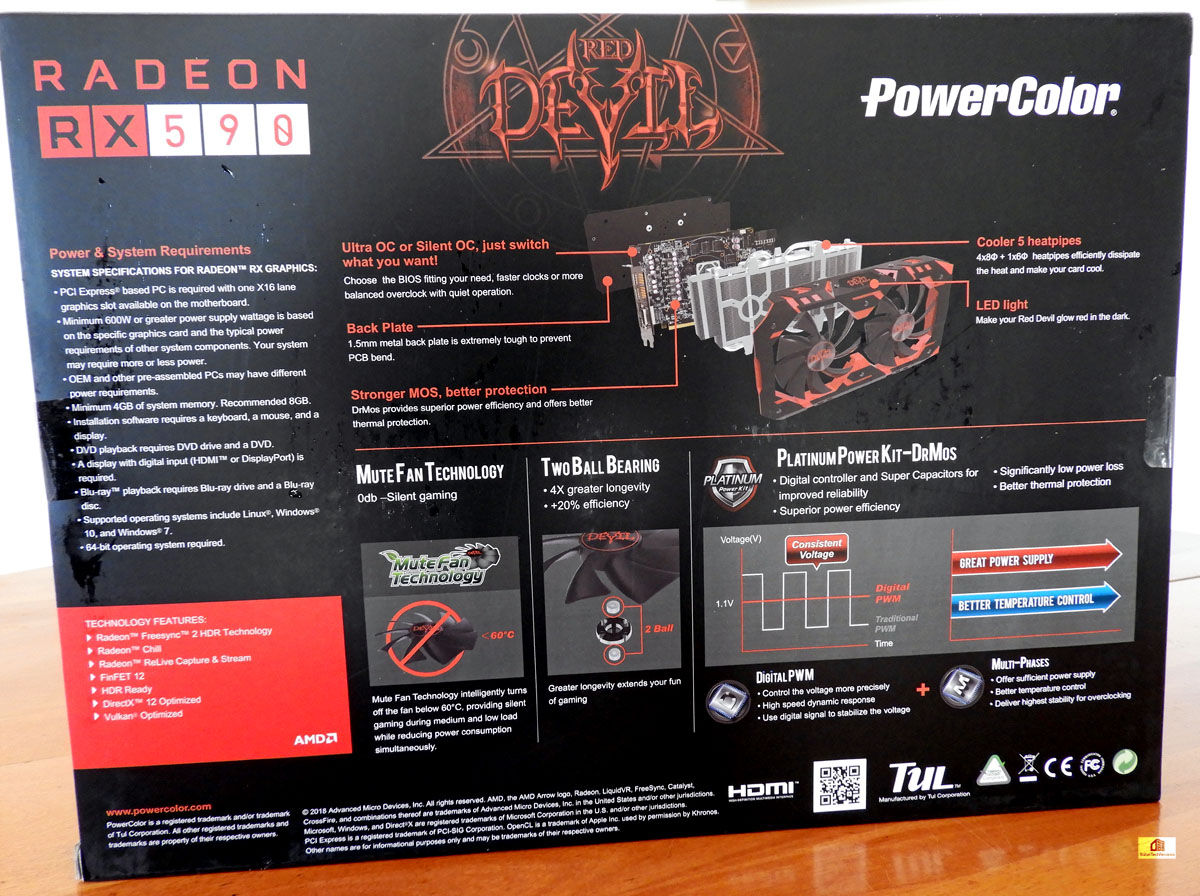 The PowerColor Red Devil RX 590 takes on the EVGA GTX 1060 SC