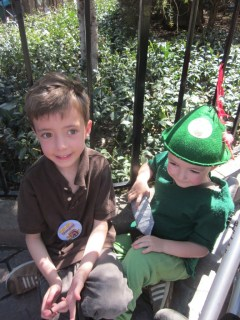 A magical day with Peter Pan at Disneyland