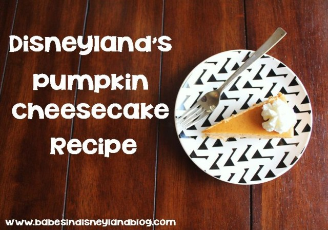 How to make Disneyland pumpkin cheesecake at home.
