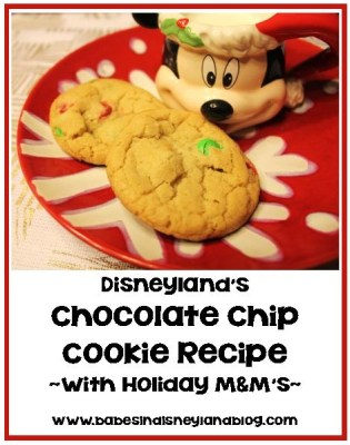 M&M Holiday Cookies Made the Disneyland Way