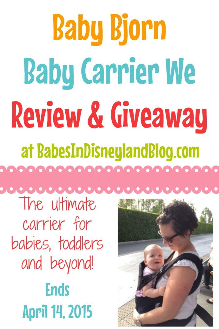 Baby Bjorn Baby Carrier We Giveaway