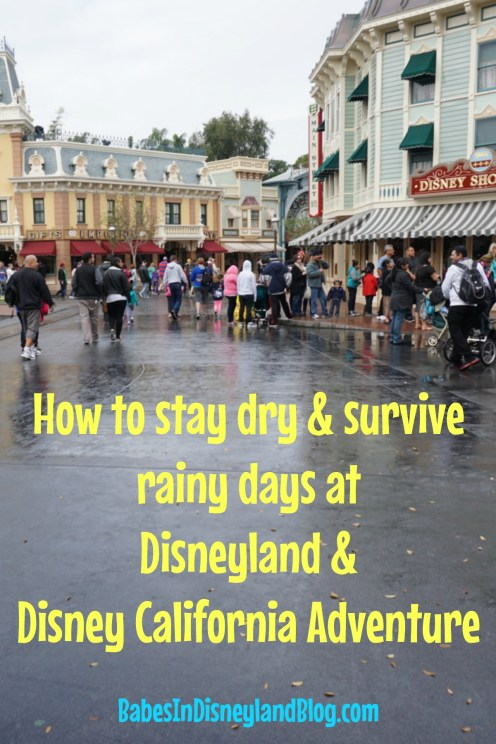How to survive and stay dry during rainy days at Disneyland and Disney California Adventure