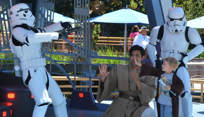 Things parents do at Disneyland that they don't do in real life - get jealous of the kids at Jedi Training Academy