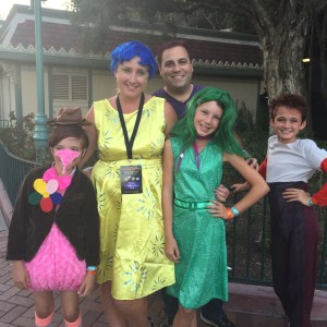 The Barone family from OC Mom Blog looked fab as the gang from Inside Out.