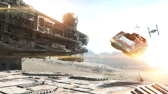 New scenes have been added to Star Tours from Star Wars: The Force Awakens.
