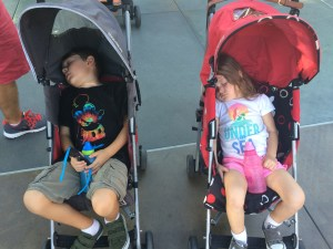 No Stroller in Disneyland