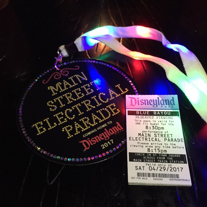 Everything You Want to Know About Blue Bayou's Main Street Electrical Parade Dining Package