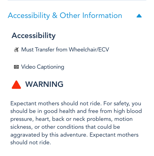 expectant mother warning disneyland app