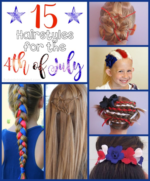 Looking for fun and festive 4th of July hairstyle ideas? We've rounded up several red, white, and blue styles that are perfect for all your holiday fun! BabesInHairland.com | braids | hair | holiday hairstyles | 4th of July |