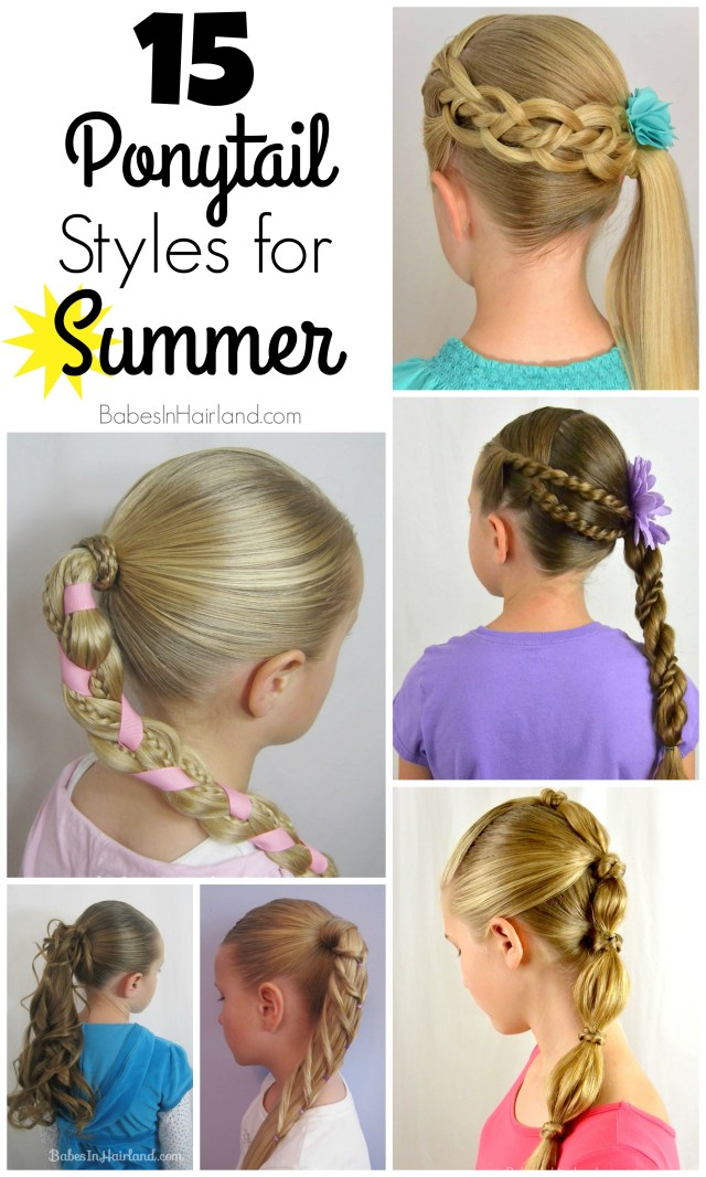 15 ponytail styles for summer - babes in hairland