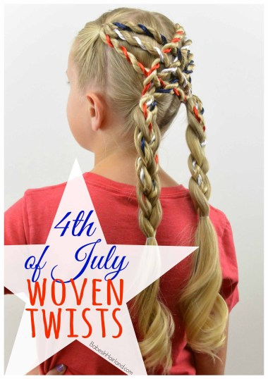4th of July Woven Twists from BabesInHairland.com #4thofJuly #twists #hair #hairstyle #redwhiteandblue
