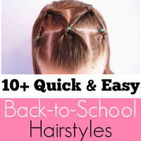 10+ Quick and Easy Back-to-School Hairstyles