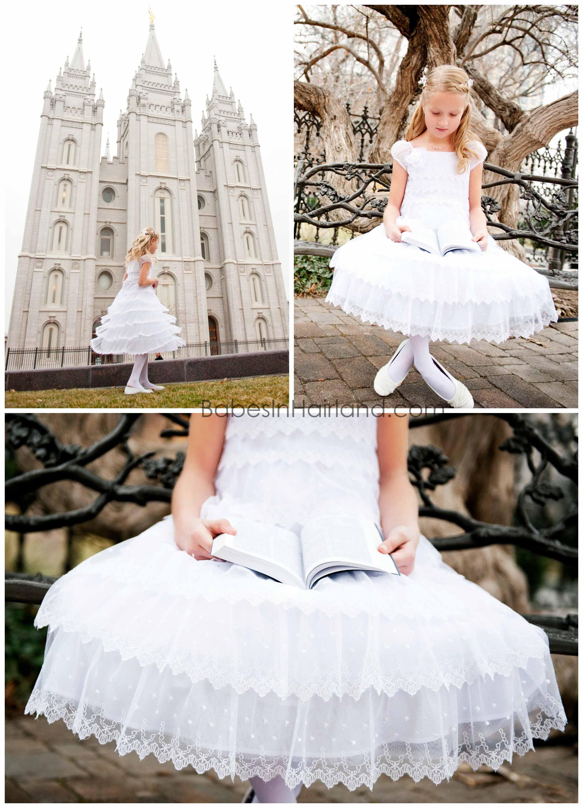 LDS Baptism Dresses Utah