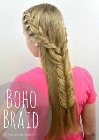Boho Braid from BabesInHairland.com #braids #hair #boho #fishbonebraid #frenchbraid