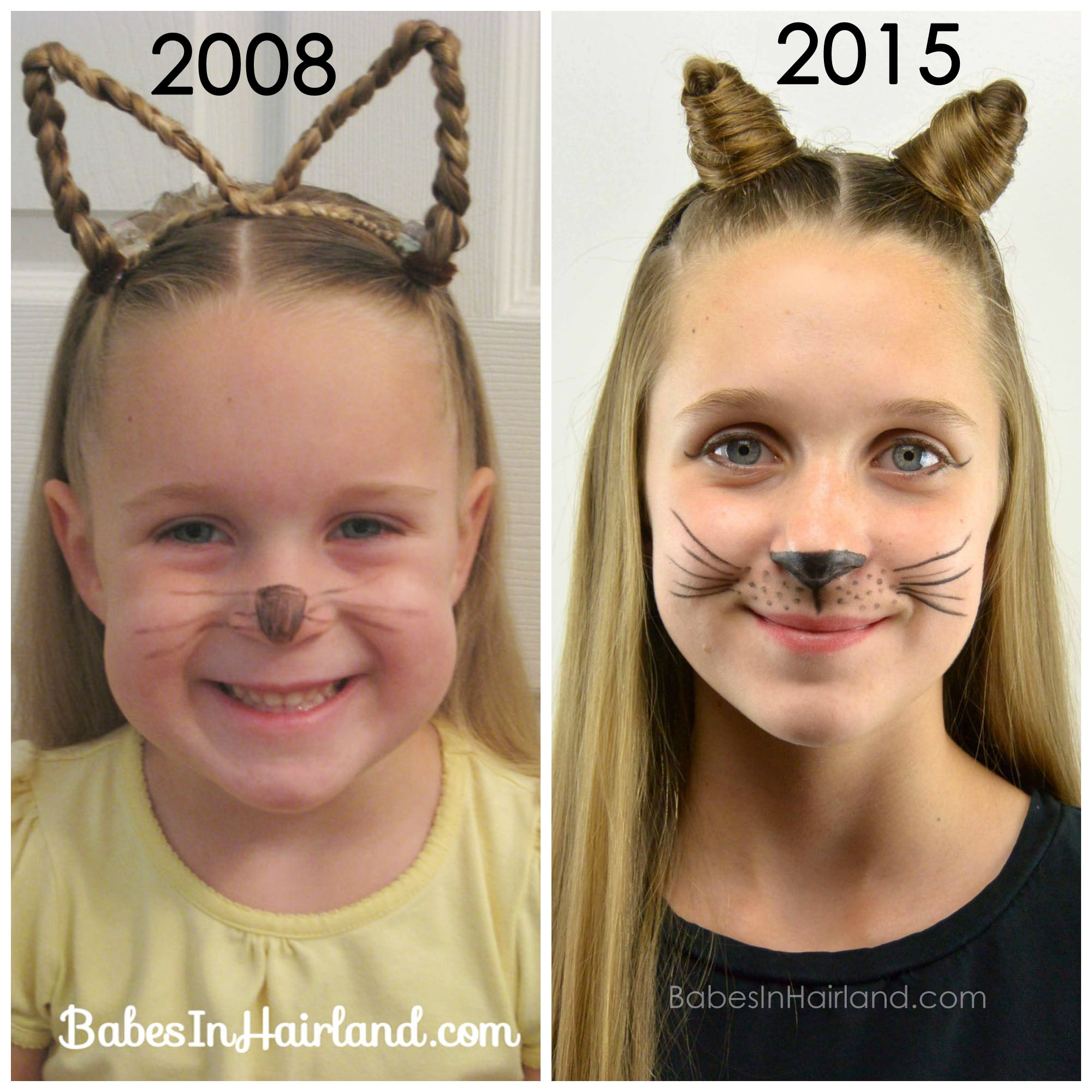 cat ears using your own hair #2 | halloween hairstyle - babes in