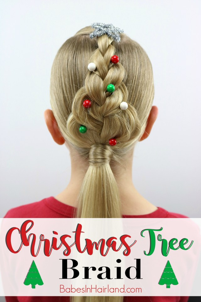 christmas tree braid - babes in hairland