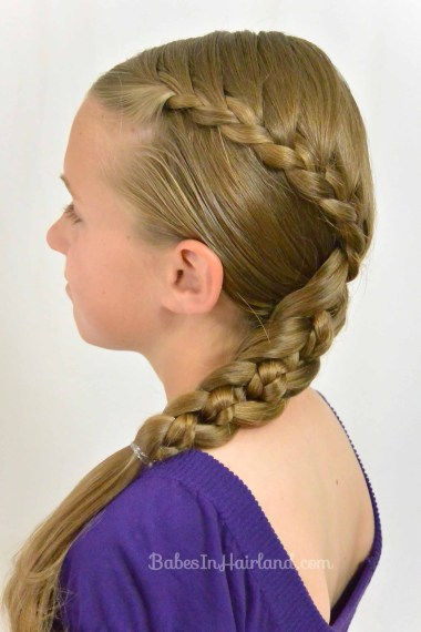 Lace Braid into a 4 Strand Braid from BabesInHairland.com