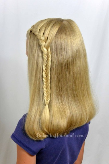 Lace Braid into a Fishbone Braid from BabesInHairland.com