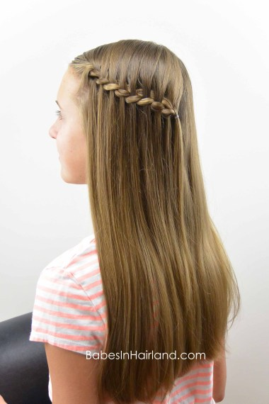 Cheater Waterfall Braid from BabesInHairland.com #waterfalllbraid #braid #hair #hairstyle