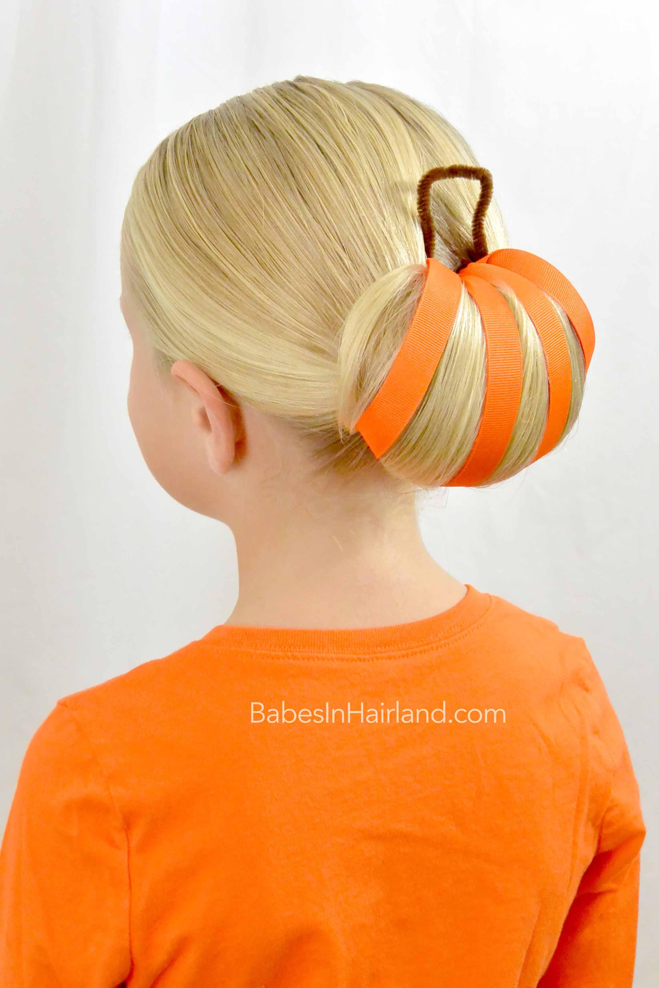 pumpkin bun halloween hairstyle