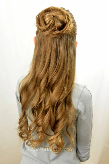 Half Up - Boho Bun from BabesInHairland.com