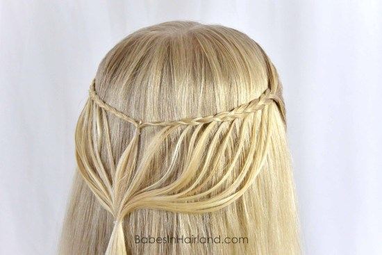 Micro Feather Braid Pullback from BabesInHairland.com