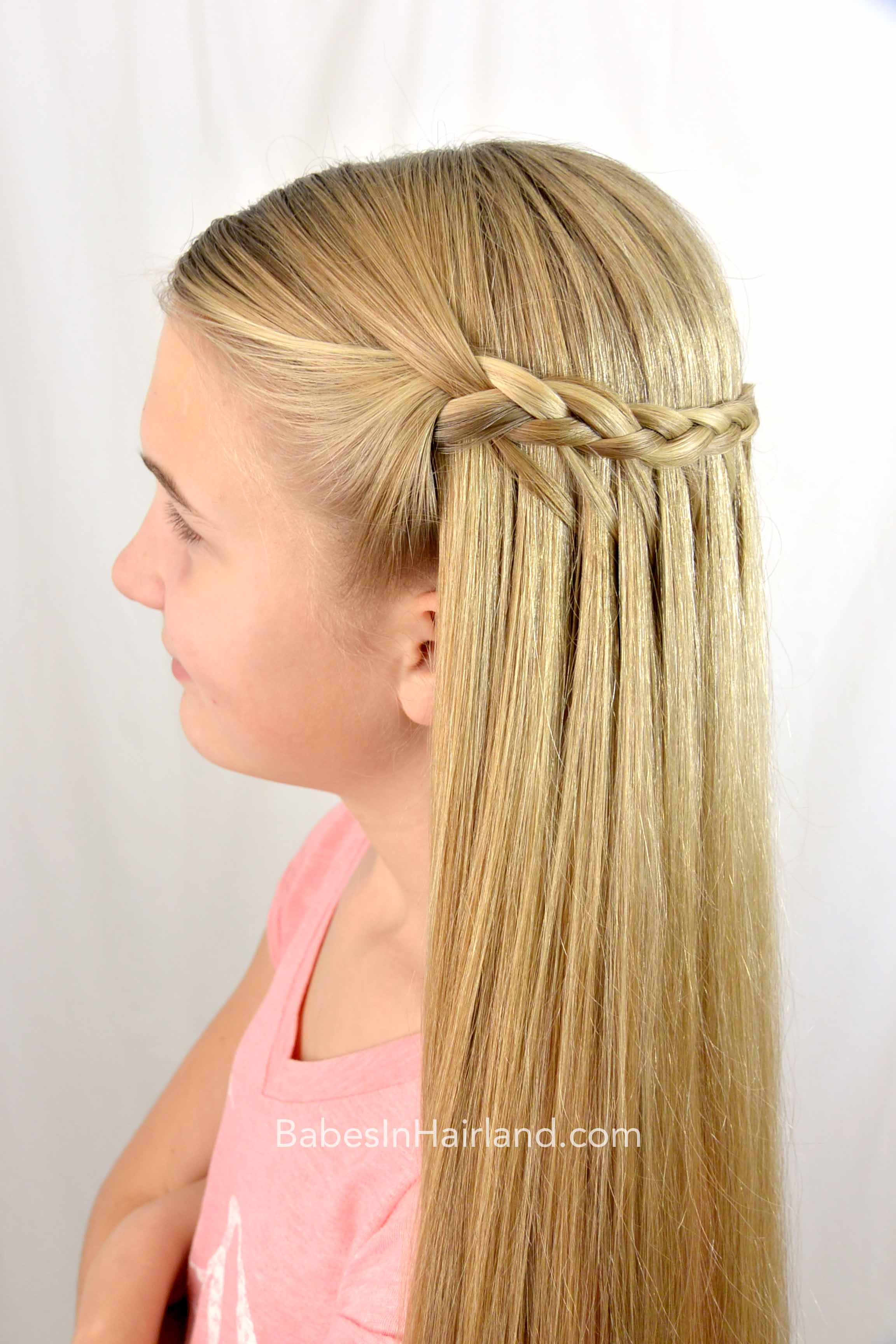 wrapping feather braid hairstyle - babes in hairland