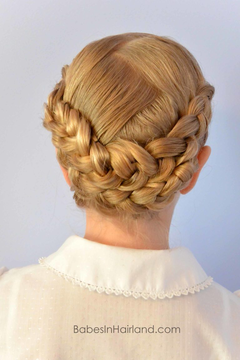 Dutch Braided Baptism Hairstyle From